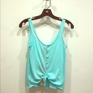 Chaser button down tie front tank